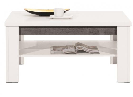 Konferenční stolek BRANDO B9 bílý lesk/beton