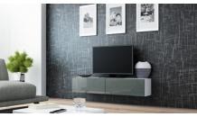 TV stolek VIGO RTV 140 bílý mat/šedý lesk