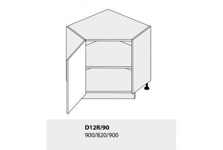 Dolní skříňka kuchyně TITANIUM D12R 90 rohová/grey