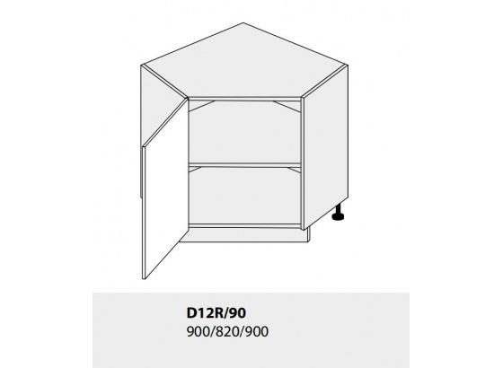 Dolní skříňka kuchyně TITANIUM D12R 90 rohová grey