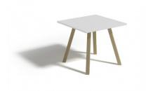 Konferenční stolek ALAN 60 bílá lesk