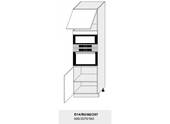 Dolní skříňka kuchyně Quantum D14RU 60 207 vestavba/grey