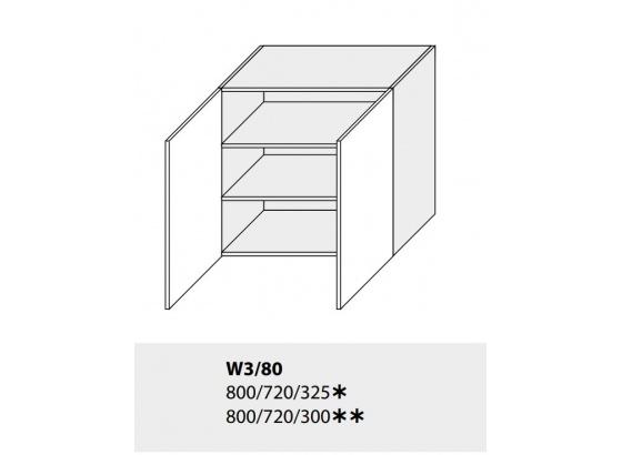 Horní skříňka kuchyně TITANIUM W3 80 grey