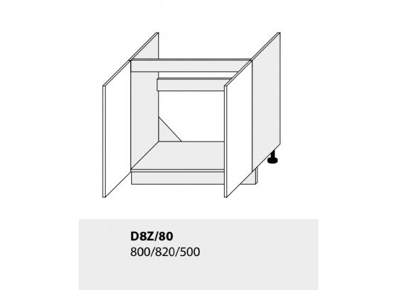 Dolní skříňka kuchyně TITANIUM D8Z 80 vestavba pro dřez bílá