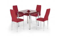 Rozkládací jídelní stůl KENT červený