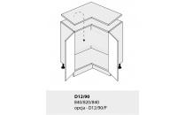 Dolní skříňka kuchyně TITANIUM D12 90 rohová/bílá