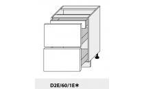 Dolní skříňka kuchyně Quantum D2E 60 1E/grey