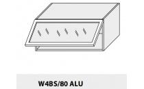 Horní skříňka kuchyně TITANIUM W4BS 80 ALU/grey