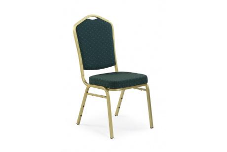 Jídelní židle K66 zeleno-zlatá