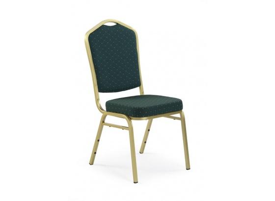 Jídelní židle K66 zeleno/zlatá