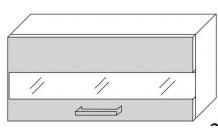 Horní skříňka SILVER W4b 80 LAM bílá