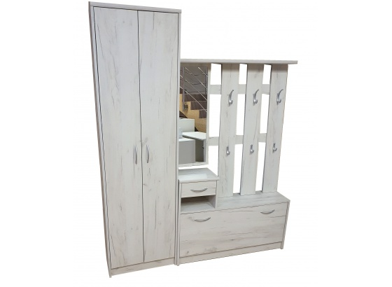Předsíňová stěna IZA dub craft white