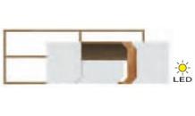 TV stolek LOFT L4a s dostavbou dub lancelot/bílý lesk