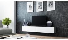 TV stolek VIGO RTV 180 šedý mat/bílý lesk