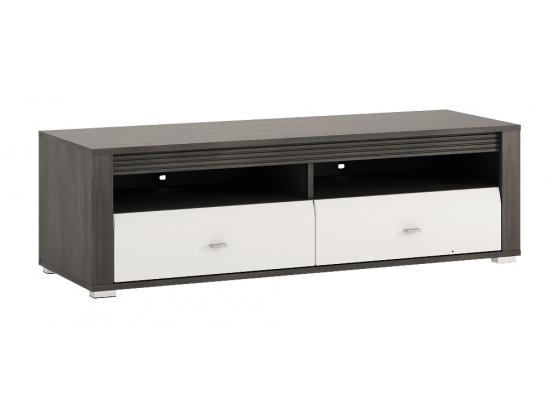 TV stolek SEVILLA typ 50 norská borovice černá/bílý lesk