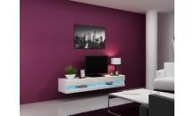 TV stolek VIGO NEW RTV 180 bílý mat/bílý lesk