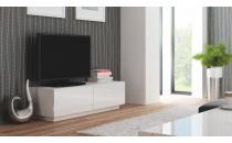 Televizní stolek LIVO RTV 160S bílý/bílý lesk