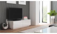TV stolek LIVO RTV 160S bílý/bílý lesk