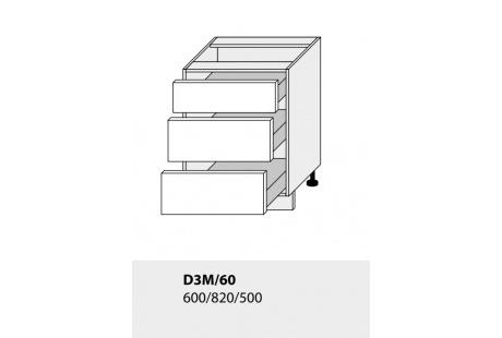 Dolní skříňka kuchyně TITANIUM D3M 60/lava