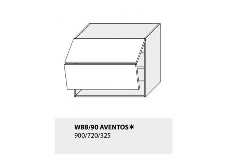 Horní skříňka kuchyně TITANIUM W8B 90 AV/grey