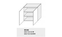 Horní skříňka kuchyně TITANIUM W3 80 bílá