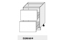 Dolní skříňka kuchyně Quantum D2M 60/grey