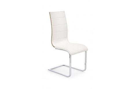 Jídelní židle K104 bílá/dub sonoma