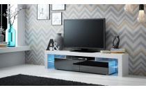 TV stolek SOLO RTV bílý mat/černý lesk