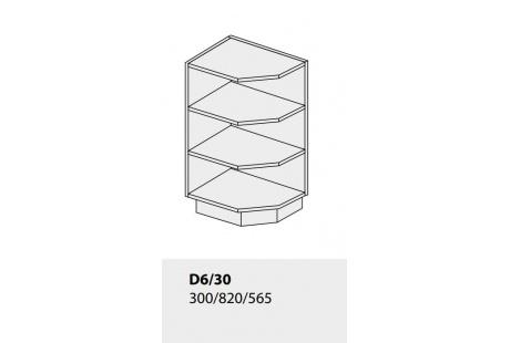 Dolní skříňka kuchyně TITANIUM D6 30 rohová jersey