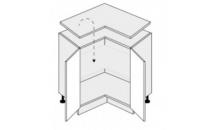 Dolní skříňka EMPORIUM D12 90 bílá