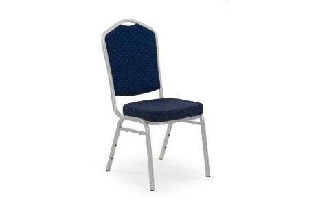 Jídelní židle K-66S modrá/stříbrná