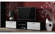TV stolek SOHO 180 S 3 černý mat/bílý lesk