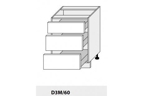 Dolní skříńka PLATINIUM D3M 60 grey