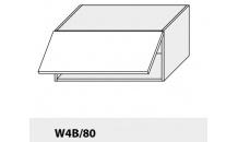 Horní skříňka kuchyně TITANIUM W4B 80 HK Aventos bílá