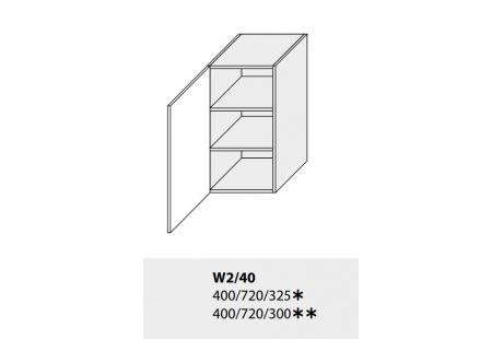 Horní skříňka kuchyně TITANIUM W2 40 jersey