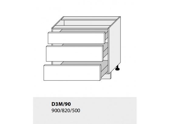 Dolní skříňka kuchyně TITANIUM D3M 90 lava