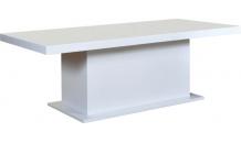 Jídelní stůl KACPER bílý lesk 200/400 masiv