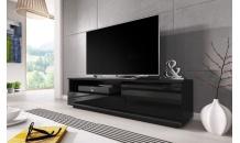 TV stolek MUZA RTV černý mat/černý lesk