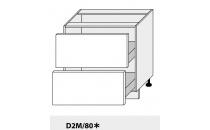 Dolní skříňka kuchyně Quantum D2M 80/grey