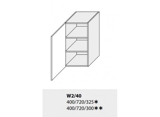 Horní skříňka kuchyně TITANIUM W2 40 grey