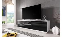TV stolek MUZA RTV bílý mat/černý lesk