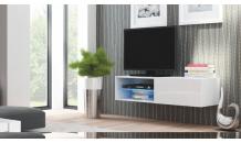 TV stolek LIVO RTV 120W bílý/bílý lesk