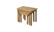 Konferenční stolek CORONA vosk/sada 3 ks