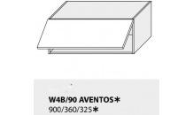 Horní skříňka kuchyně TITANIUM W4B 90 HK Aventos bílá