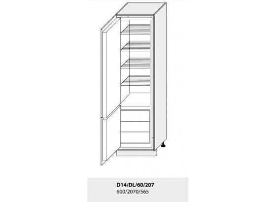 Dolní skříňka kuchyně TITANIUM D14DL 60 vestavba na lednici grey