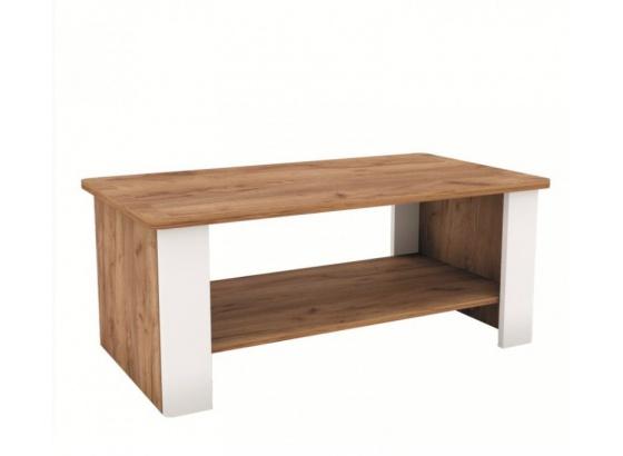 Konferenční stolek CANDY 110 dub craft tmavý/bílá