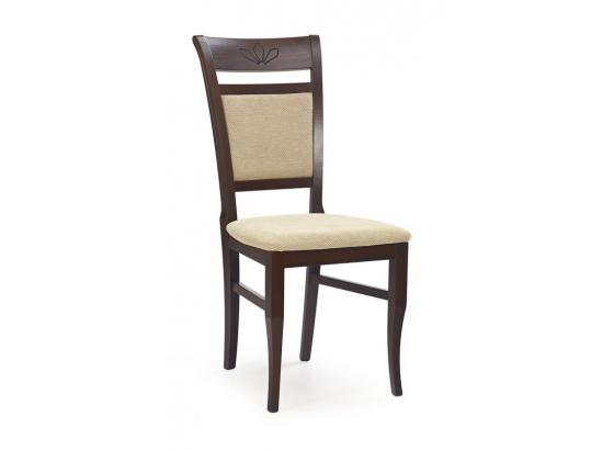 Jídelní židle JAKUB ořech tmavý/Torent beige