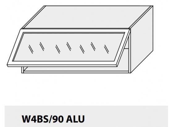 Horní skříňka kuchyně Quantum W4BS 90 ALU jersey