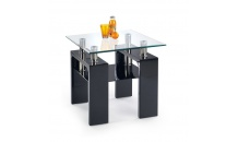 Konferenční stolek DIANA H čtverec černý lak
