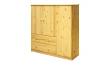 Prádelník 3 dveře + 2 zásuvky masiv borovice